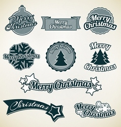 Merry Christmas labels vector image vector image