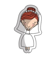 Newly married woman character vector image vector image
