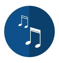 Note music audio sound shadow vector