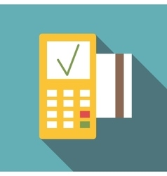 Pos terminal icon flat style vector