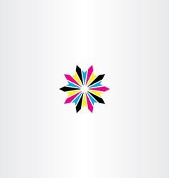 Print cmyk abstract logo icon star vector