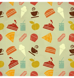 retro menu seamless color vector image vector image