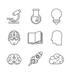 science and ideas icons vector image vector image