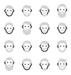 set of icons on the theme of man s beard in vector image vector image