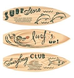 set of surf logos vector image