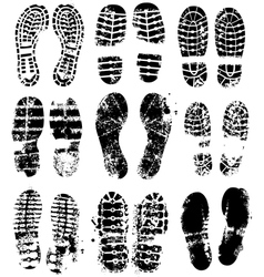 sole boot prints vector image vector image