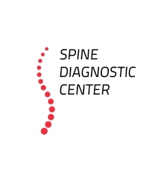 Spinal diagnostic center logo isolated spine vector