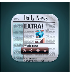 square newspaper xxl icon vector image vector image
