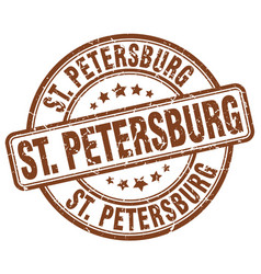 St petersburg brown grunge round vintage rubber vector