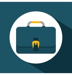 suitcase over circle design vector image