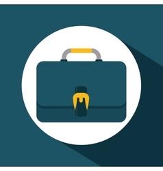 Suitcase over circle design vector