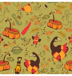 The pattern for the autumn holidays vector image vector image