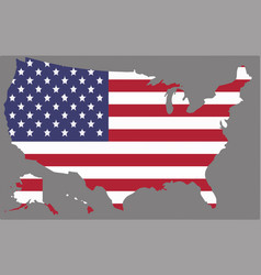 united states map with the american flag vector image vector image