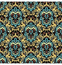 Vintage ethnic damask seamless pattern background vector image vector image