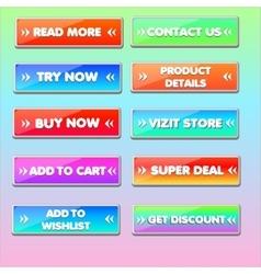 Web buttons set vector