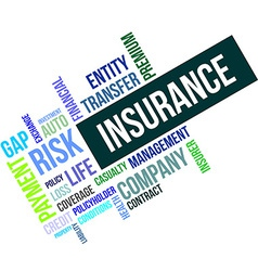 Word cloud insurance vector