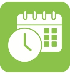 Scheduled date and time vector