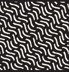 Hand drawn scattered wavy lines monochrome texture vector