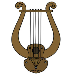 Ancient greek lyre vector