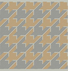 houndstooth lines vector image
