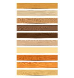 Set of Wood Textures vector image
