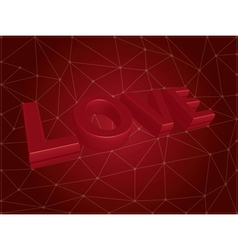3d love text vector
