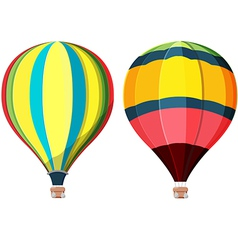 Balloon hot air high sky vector