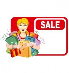 woman shopping vector image