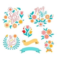 Wedding graphic set vector