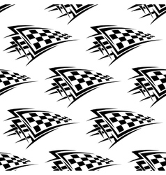 Racing checkered flags seamless pattern vector image