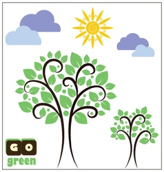 Ecologic poster vector