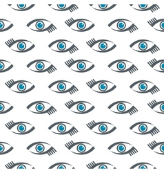 Eyes icons pattern vector