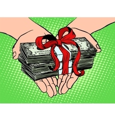 Money as a gift financial income vector