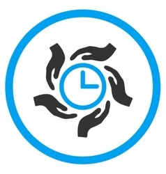 Time care rounded icon vector