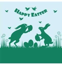 Happy easter colorful postcard background vector