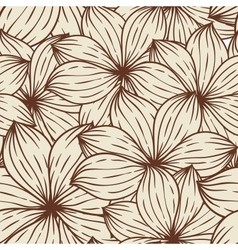 Seamless texture of abstract flowers vector