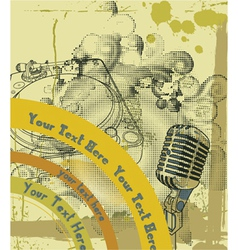 Concert poster with microphone vector
