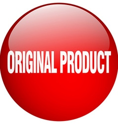 Original product red round gel isolated push vector