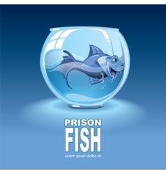 Little blue fish vector