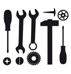 a set of tools vector image vector image