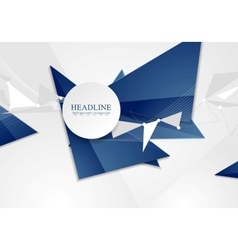 Abstract blue tech polygonal background vector image vector image