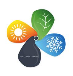 Air conditioning eco symbol vector
