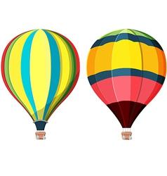 Balloon hot air high sky vector