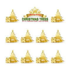 Bargain christmas trees vector