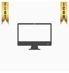 Computer display icon Monitor simbol vector image vector image