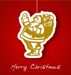 Gold Santa applique background vector image