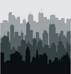 Green city skyline vector
