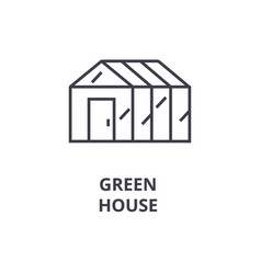 green house line icon outline sign linear symbol vector image vector image
