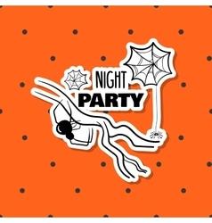 Halloween Sticker Spiders vector image vector image