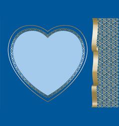 heart on dark blue background vector image